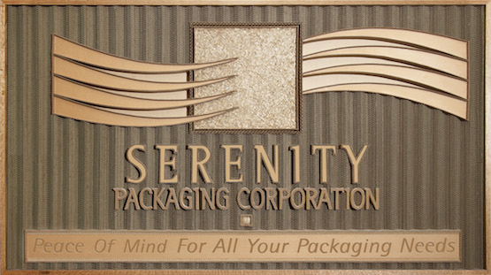 Serenity Packaging Corporation Banner Logo